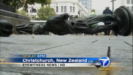 The New Zealand quake has exposed possibly historic documents hidden in a 19th century statue that toppled in the disaster.