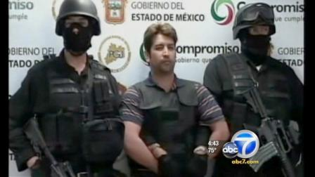 An alleged Mexican drug lord who police say confessed to more than 600 murders was arrested during an overnight raid.
