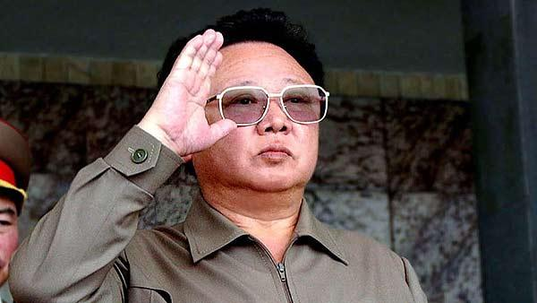 North Korean leader Kim Jong Il salutes during a celebration to mark the country's 55th birthday in this Sept. 9, 2003 photo at Pyongyang's Kim Il Sung Square. He died Dec. 17, 2011 of a heart attack.