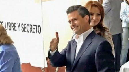 Mexican presidential candidate Enrique Pena Nieto, a 45-year-old former governor of the state of Mexico, has promised to crack down on the drug violence that has killed more than 50,000 Mexicans and create jobs.
