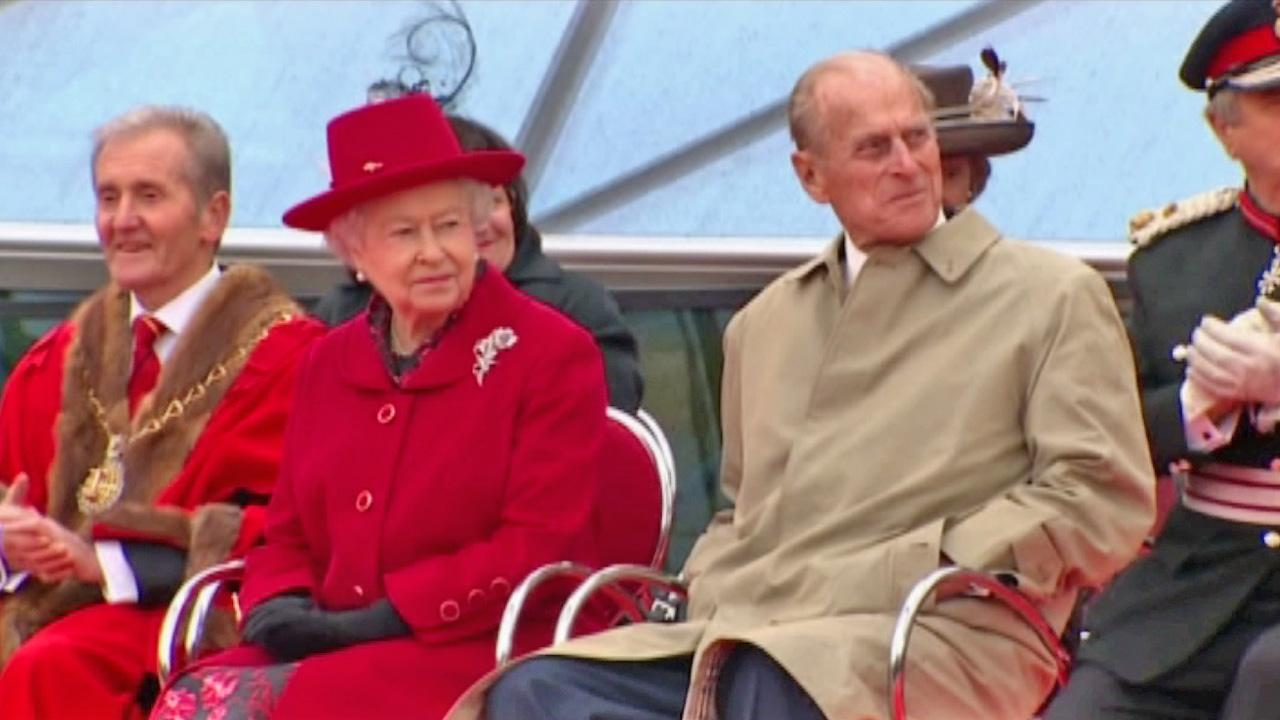 Queen Elizabeth II (left) and Prince Philip (right) appear together in this undated file photo.