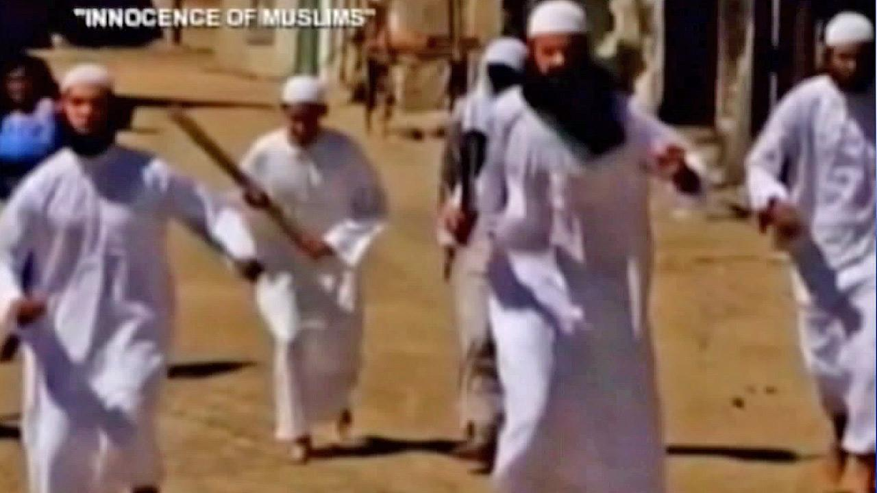 A screenshot from the trailer of the film Innocence of Muslims is shown in this file photo.