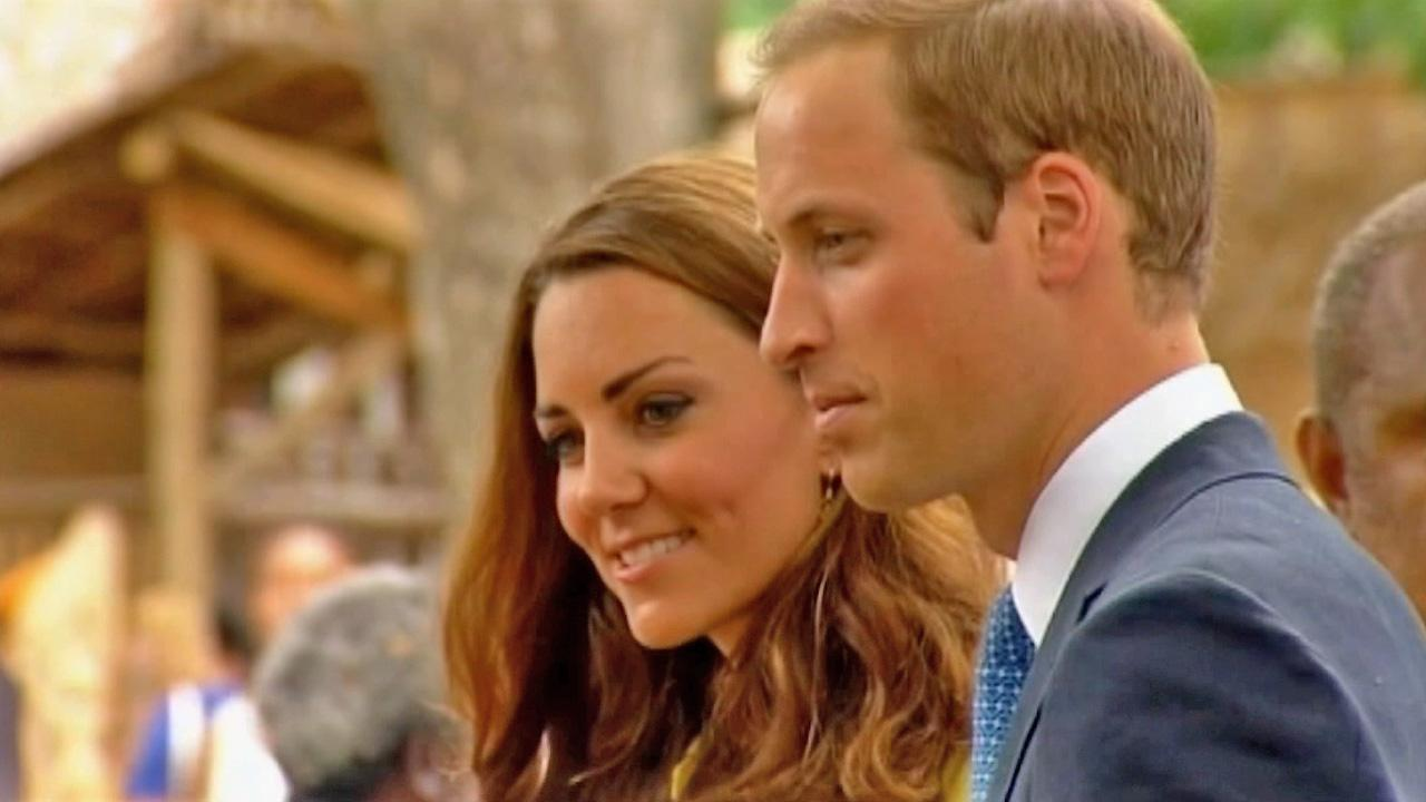 Prince William and Kate Middleton are seen.