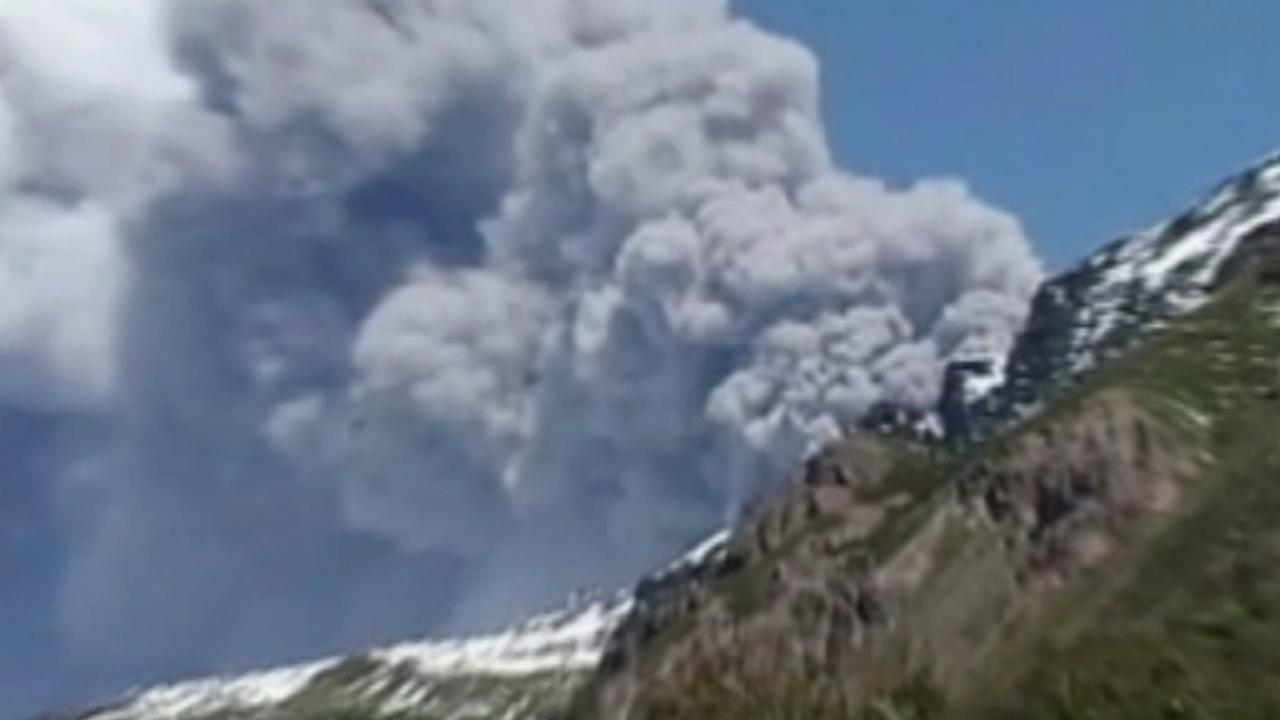 Chiles Copahue volcano roared to life Sunday, December, 23, 2012.