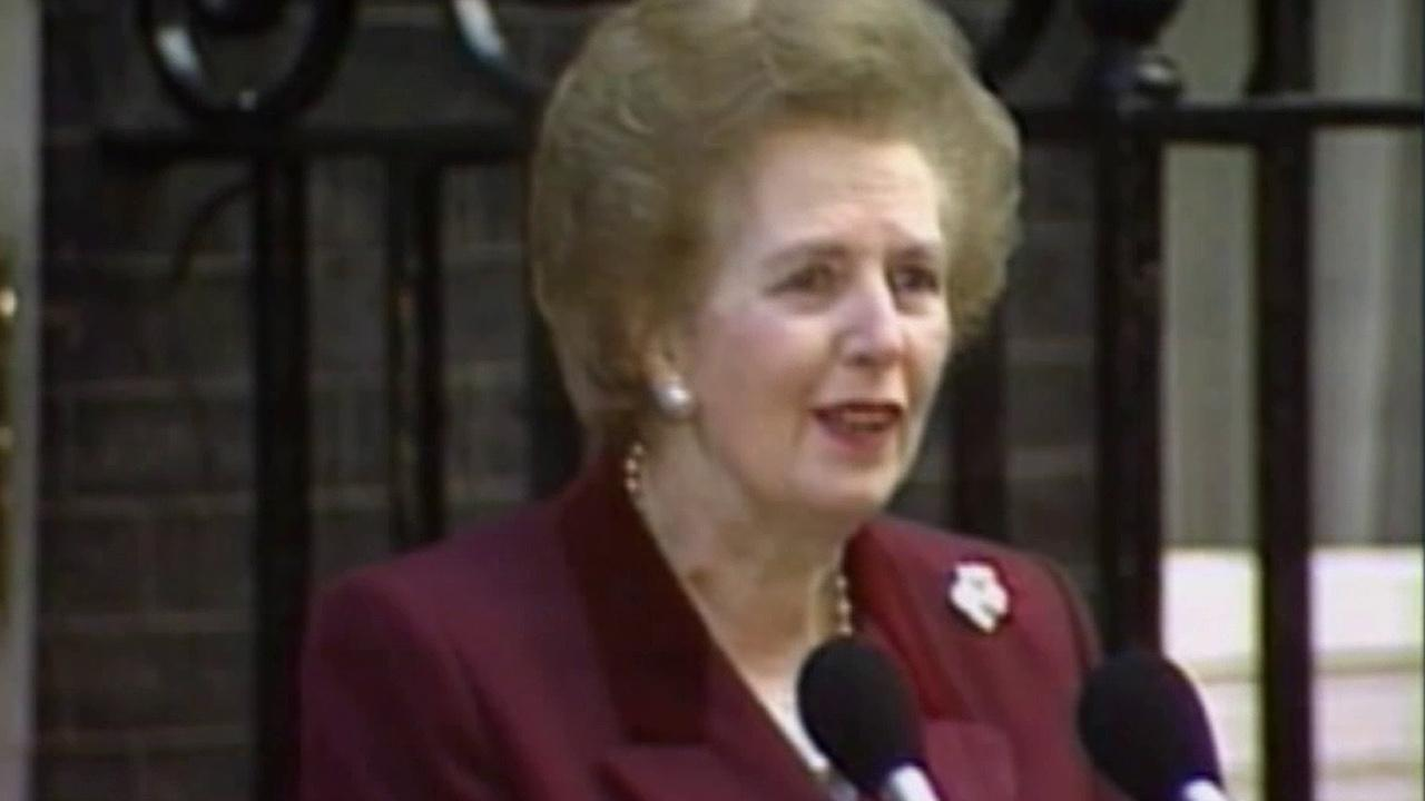 Former British Prime Minister Margaret Thatcher is seen in this undated photo.
