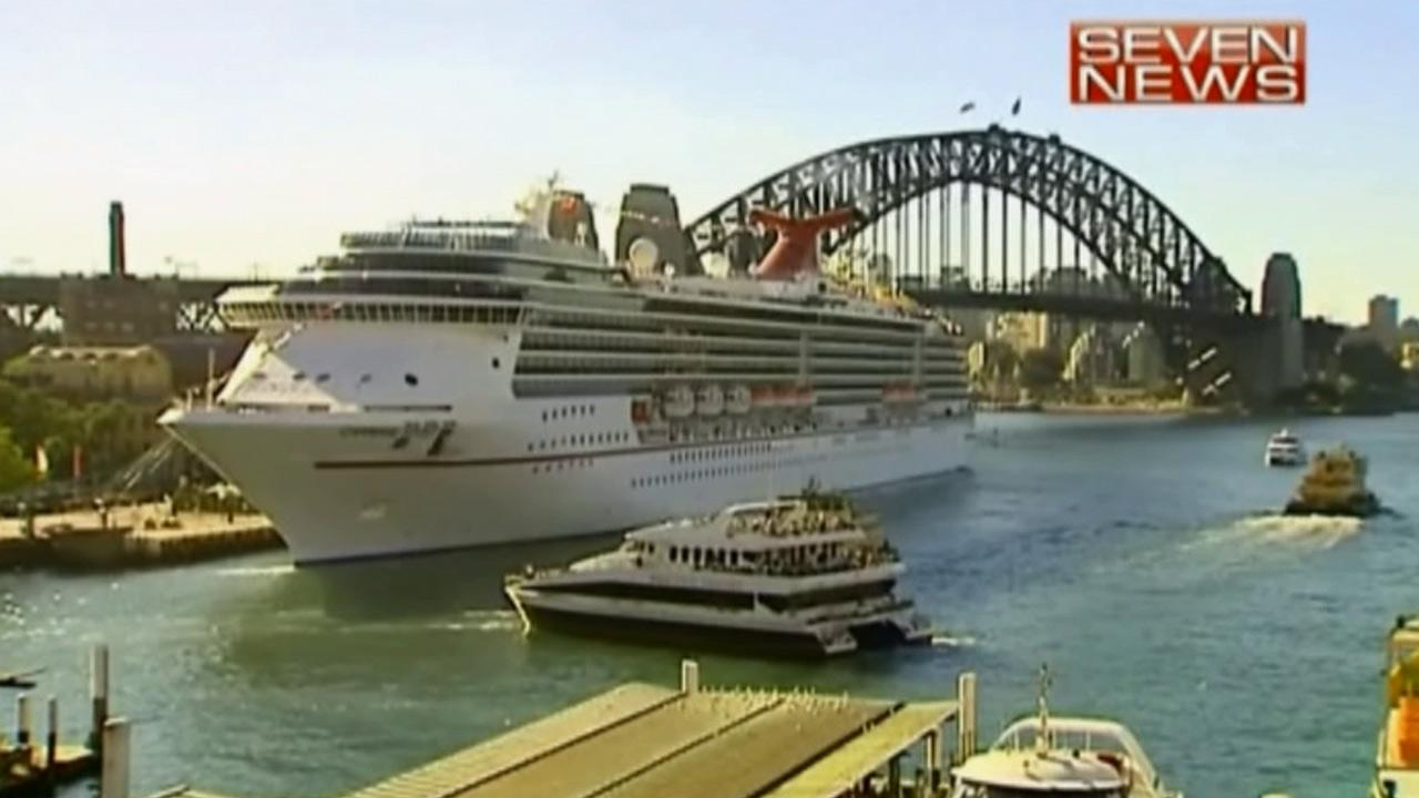 Carnival Spirit is seen docked at Sydneys Circular Quay on Thursday, May 9, 2013.