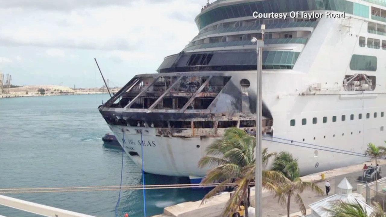 A ship fire burned on a Royal Caribbean cruise ship early Monday morning.  More than 3,000 people were onboard at the time, including passengers and crew.