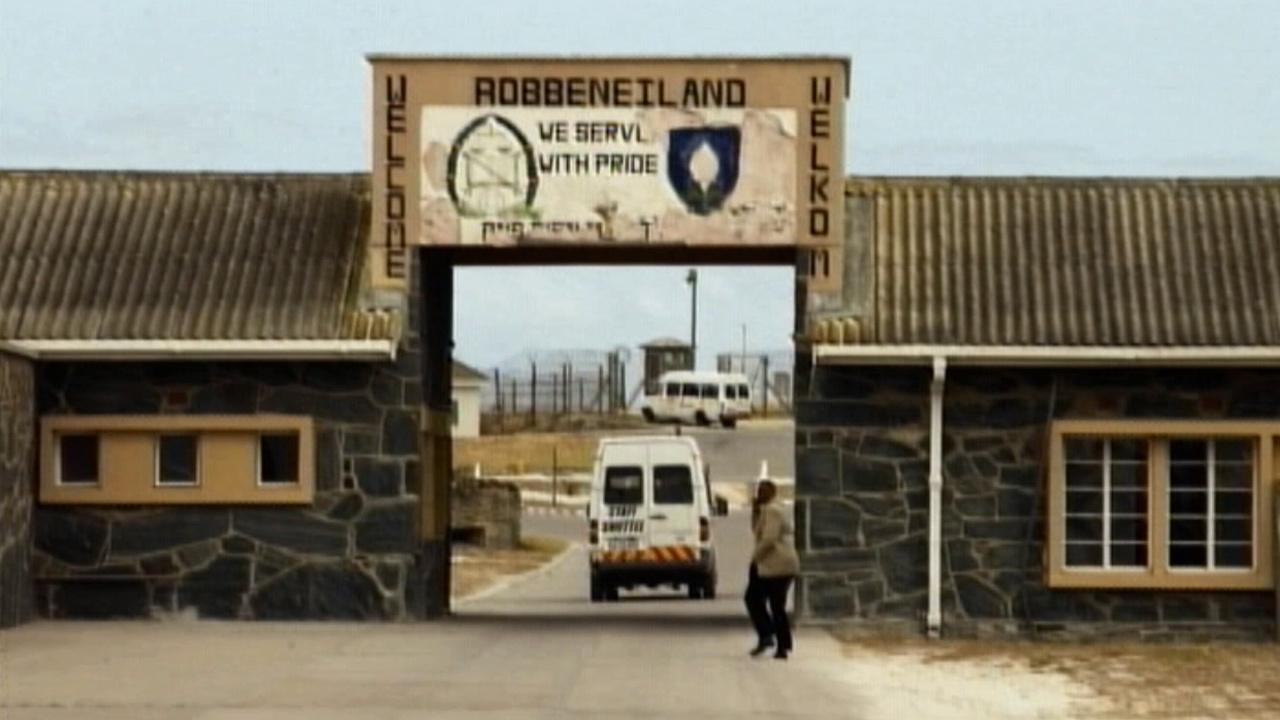 Robben Island prison, where Nelson Mandela was once held, is seen in this undated photo.