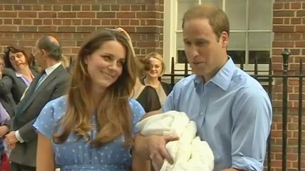 Prince William and his wife Kate, the Duke and Duchess of Cambridge, appear at the