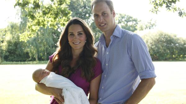 Prince William and his wife, Kate, Duchess of Cambridge, released this family photo with