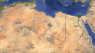 This Google Maps file image shows Libya.