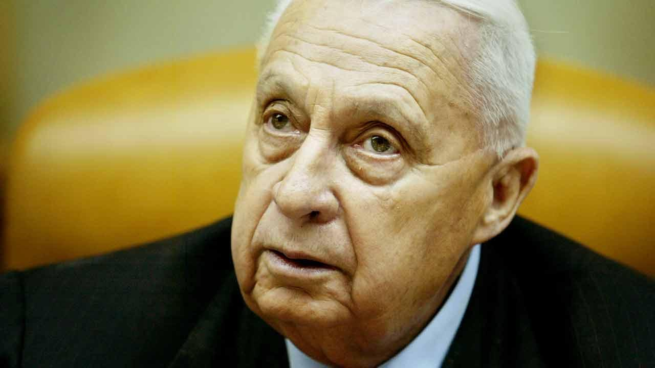 In this Sunday Jan. 30, 2005 file photo, Israeli Prime Minister Ariel Sharon pauses during the weekly cabinet meeting in his Jerusalem office. Sharon died Saturday, Jan. 11, 2014 after being in a coma for eight years following a stroke. He was 85.Oded Balilty, Pool, File
