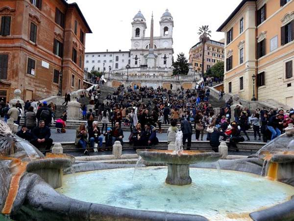 "<div class=""meta image-caption""><div class=""origin-logo origin-image ""><span></span></div><span class=""caption-text"">The Scalinata is the widest staircase in Europe. The Trinità dei Monti church is seen at the top.  (KABC)</span></div>"