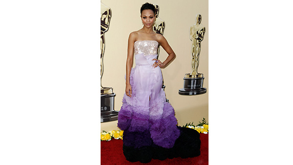 Zoe Saldana arrives during the 82nd Academy Awards Sunday, March 7, 2010.