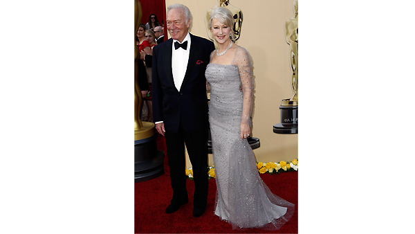 Helen Mirren and Christopher Plummer arrive during the 82nd Academy Awards Sunday, March 7, 2010.