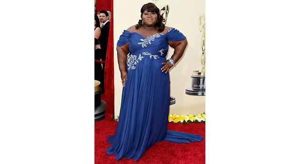 Gabourey Sidibe arrives during the 82nd Academy Awards Sunday, March 7, 2010.