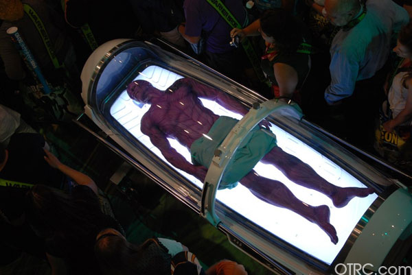 Green Lantern alien, Abin Sur, is spotted at Comic-Con in San Diego during preview night, Wednesday, July 21, 2010.