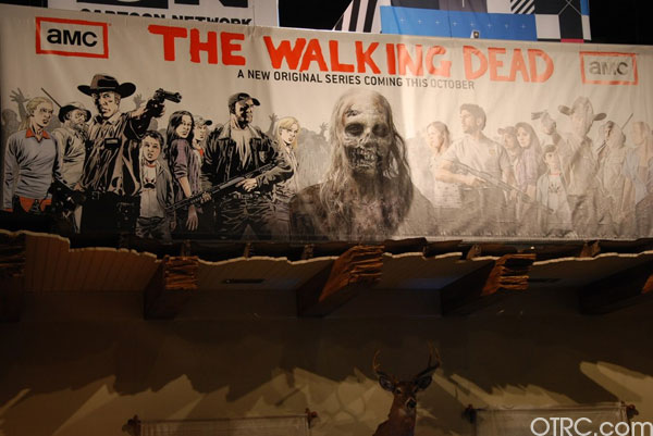 A banner ad for the AMC show 'Walking Dead' at Comic-Con 2010 in San Diego