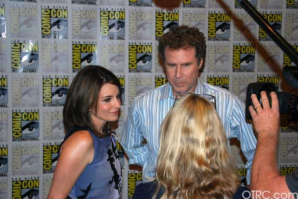 Comedians Tina Fey and Will Ferrell at Comic-Con...