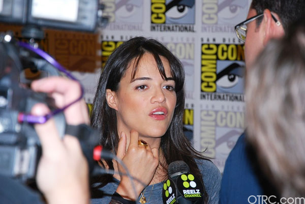 Actress Michelle Rodriguez at Comic-Con 2010 in...