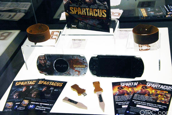 'Spartacus' memorabillia on display at Comic-Con...