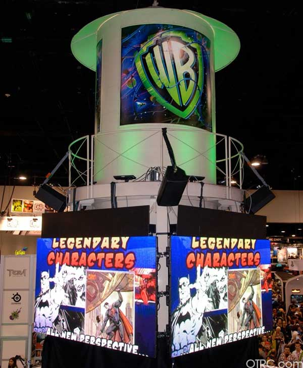 Warner Bros. exhibit booth at Comic-Con 2010 in San Diego