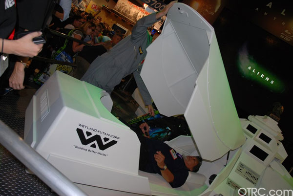 'Aliens' Weyland Corp Pods on display at Comic-Con 2010 in San Diego