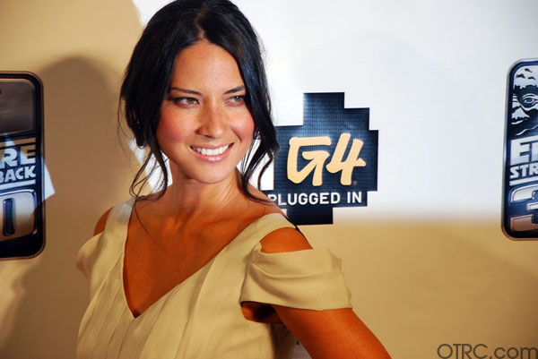 "<div class=""meta ""><span class=""caption-text "">'Attack of the Show' host and actress Olivia Munn is seen at a G4 party at Comic-Con in San Diego on Thursday, July 22, 2010. (KABC)</span></div>"