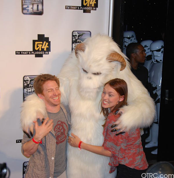 "<div class=""meta ""><span class=""caption-text "">Actor Seth Green is seen with a 'Star Wars' character at a G4 party at Comic-Con in San Diego on Thursday, July 22, 2010.</span></div>"
