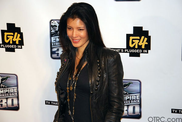 'Vampire Diaries' actress Kelly Hu is seen at a...
