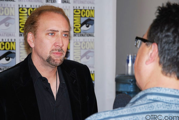 Actor Nicolas Cage is seen at Comic-Con in San Diego on Thursday, July 22, 2010.