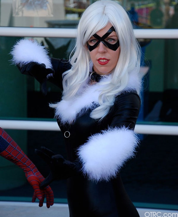 This 'Spider-Man' fan dressed up as Black Cat was seen at Comic-Con in San Diego on Saturday July 24, 2010.