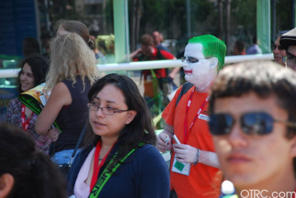 There's a Joker in the crowd at Comic-Con in San Diego on Saturday July 24, 2010.