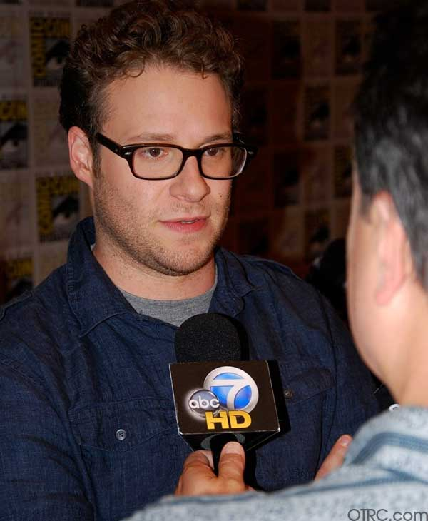 Actor Seth Rogen is seen Comic-Con in San Diego on Saturday July 24, 2010.