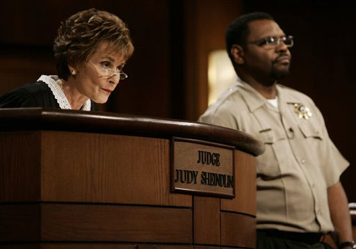 "<div class=""meta image-caption""><div class=""origin-logo origin-image ""><span></span></div><span class=""caption-text"">Late Night / Talk Syndication Category: Judge Judy Sheindlin earns $45 million per year, according to TVGuide.com. (AP Photo/Damian Dovarganes)</span></div>"