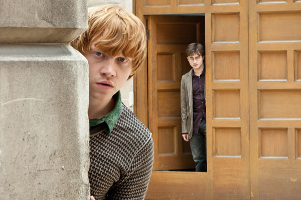 Harry Potter (Daniel Radcliffe) and Ron Weasley...