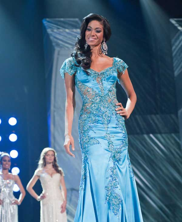 Yendi Phillipps, Miss Jamaica 2010, poses for the judges during final voting at the live telecast of the 2010 Miss Universe Pageant at the Mandalay Bay Events Center in Las Vegas, Nevada on Monday, August 23, 2010. <span class=meta>(Patrick Prather&#47;Miss Universe Organization)</span>