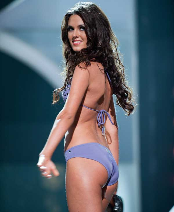 Irina Antonenko, Miss Russia 2010, competes in her Dar Be Dar swimsuit during the 2010 Miss Universe Pageant swimsuit competition at the Mandalay Bay Events Center in Las Vegas, Nevada on Monday, August 23, 2010.