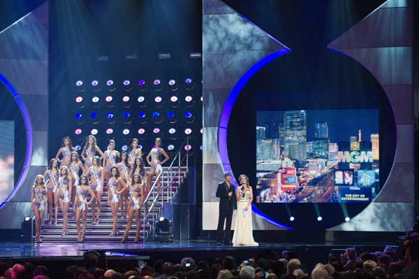 "<div class=""meta ""><span class=""caption-text "">The top 15 finalists at the 2010 Miss Universe Pageant swimsuit competition at the Mandalay Bay Events Center in Las Vegas, Nevada on Monday, August 23, 2010. (Richard Harbaugh/Miss Universe Organization)</span></div>"