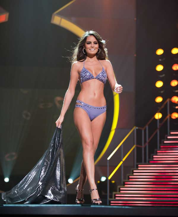 "<div class=""meta ""><span class=""caption-text "">Jimena Navarrete, Miss Mexico 2010, competes in her Dar Be Dar swimsuit during the 2010 Miss Universe Pageant swimsuit competition at the Mandalay Bay Events Center in Las Vegas, Nevada on Monday, August 23, 2010. (Matt Petit/Miss Universe Organization)</span></div>"