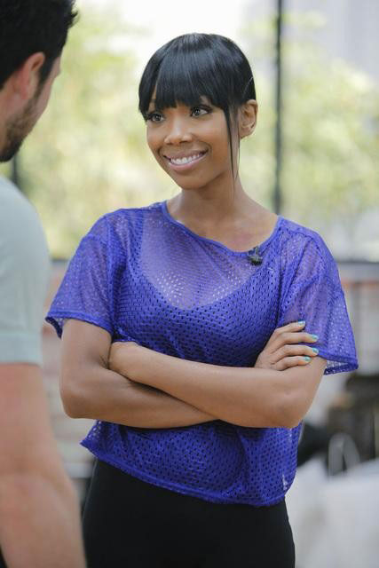 Brandy joins Maksim Chmerkovskiy, who is back...