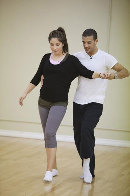 Bristol Palin rehearses with two-time champ Mark Ballas, who is returning for his seventh season. <span class=meta>(ABC&#47;Greg Zabilski)</span>