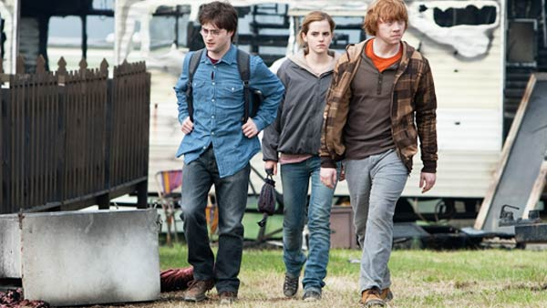 Harry Potter &#40;Daniel Radcliffe&#41;, Hermione Granger &#40;Emma Watson&#41; and Ron Weasley &#40;Rupert Grint&#41; appear in a scene from &#39;Harry Potter and the Deathly Hallows - Part 1.&#39; <span class=meta>(Jaap Buitendijk &#47; Warner Bros. Pictures)</span>