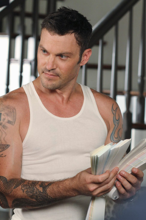 "<div class=""meta ""><span class=""caption-text "">Brian Austin Green appears in a scene from 'Desperate Housewives', which returns for a seventh season on September 26. (Photo courtesy of ABC)</span></div>"