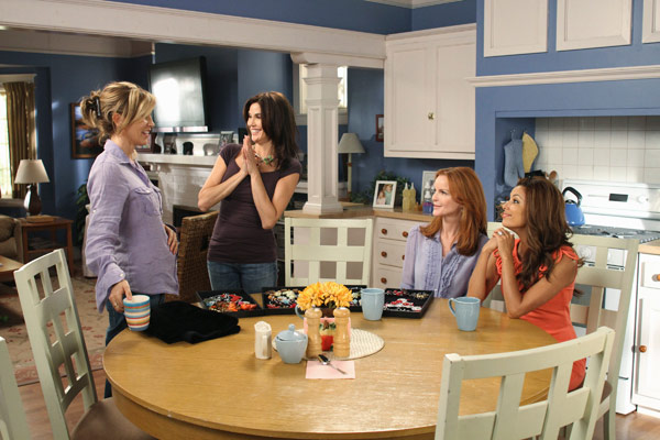 "<div class=""meta image-caption""><div class=""origin-logo origin-image ""><span></span></div><span class=""caption-text"">From left to right: Felicity Huffman, Terri Hatcher, Marcia Cross and Eva Longoria appear in a scene from 'Desperate Housewives', which returns for a seventh season on September 26. (Photo courtesy of ABC)</span></div>"