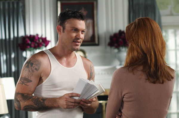 Marcia Cross and Brian Austin Green appear in a scene from 'Desperate Housewives', which returns for a seventh season on September 26.