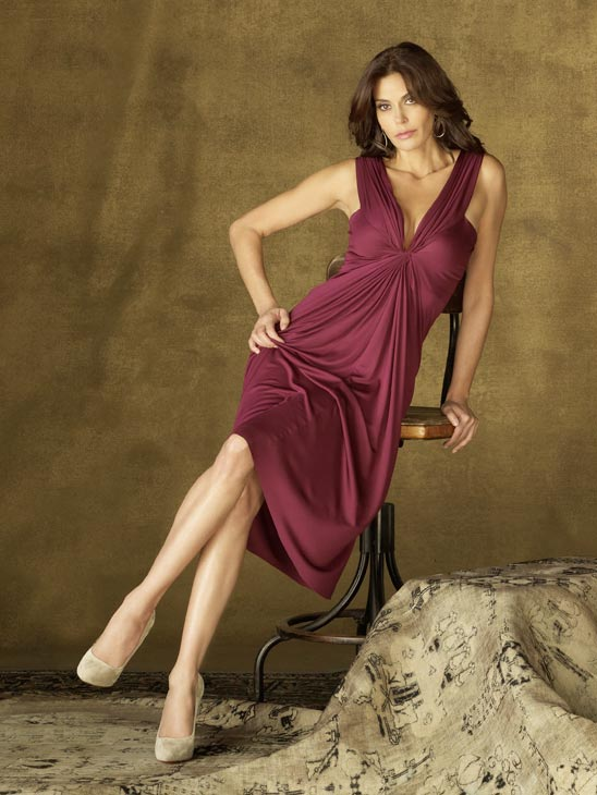 Terri Hatcher appears in a promotional image for 'Desperate Housewives', which returns for a seventh season on September 26.