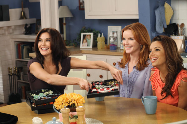 "<div class=""meta image-caption""><div class=""origin-logo origin-image ""><span></span></div><span class=""caption-text"">Terri Hatcher, Marcia Cross and Eva Longoria appear in a scene from 'Desperate Housewives', which returns for a seventh season on September 26. (Photo courtesy of ABC)</span></div>"
