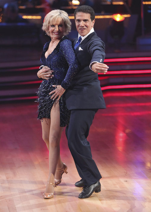 "<div class=""meta ""><span class=""caption-text "">Florence Henderson and Corky Ballas perform on 'Dancing With the Stars,' Monday, Sept.  20, 2010. The judges gave the couple 18 points out of 30. (ABC Photo/ Adam Larkey)</span></div>"