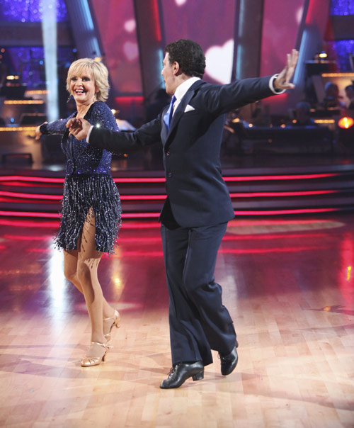Florence Henderson and Corky Ballas perform on &#39;Dancing With the Stars,&#39; Monday, Sept.  20, 2010. The judges gave the couple 18 points out of 30. <span class=meta>(ABC Photo&#47; Adam Larkey)</span>
